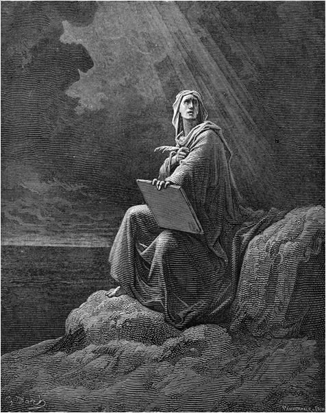 John on the Island of Patmos (Gustave Dore)